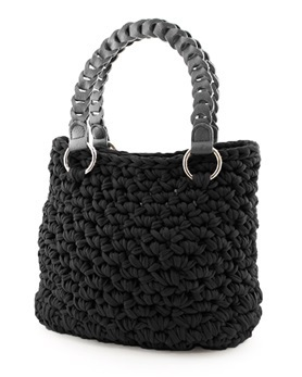 Hoooked Zpagetti Set Tasche Palermo Blackcharcoal