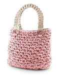 Hoooked Zpagetti Set Tasche Palermo pastel pink
